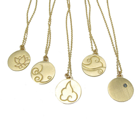 Gold Elements Charm Necklaces