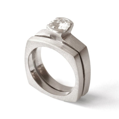 Women's Small Square Ring