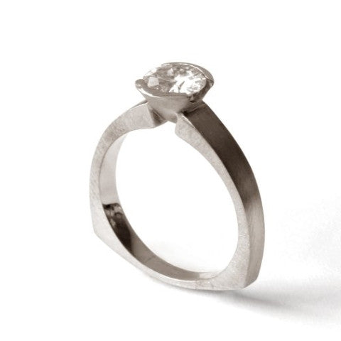 Triangle Solitaire Ring