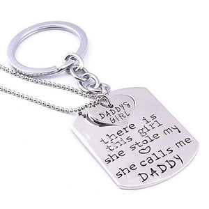 Daddy's Girl Heart Necklace and Keychain