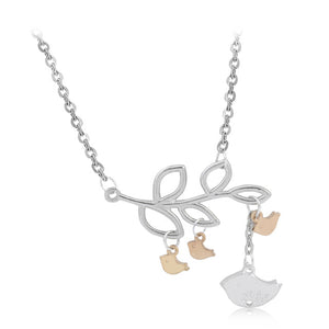 Mama and Her Birds Necklace