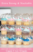 [12 PACK ] Stack'nGo Cupcake Containers Kitchen Cakes of Eden