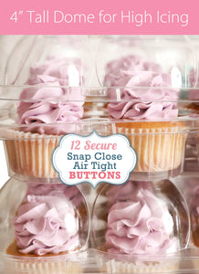 [12 PACK ] Stack'nGo Cupcake Containers (Subscribe & Save) Kitchen Cakes of Eden