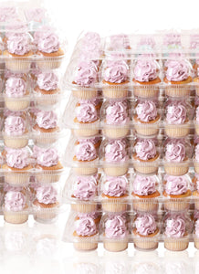[24 PACK ] Stack'nGo Cupcake Containers Kitchen Cakes of Eden 24 Pack | 10 Sets