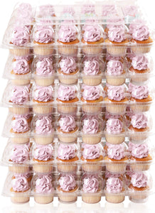 [24 PACK ] Stack'nGo Cupcake Containers Kitchen Cakes of Eden 24 Pack | 6 Sets