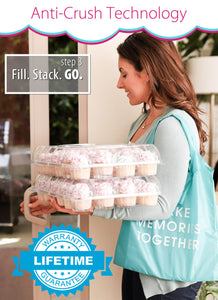 [24 PACK ] Stack'nGo Cupcake Containers Kitchen Cakes of Eden