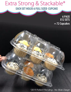 [6 PACK ] Stack'nGo Cupcake Containers Kitchen Cakes of Eden