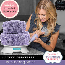 ForeverSmooth™ 12 Inch Cake Turntable and Decorating Supplies Kit Kitchen FBA