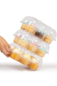 Stack'n Go Cupcake Containers FBA 6 Pack | 12 Sets