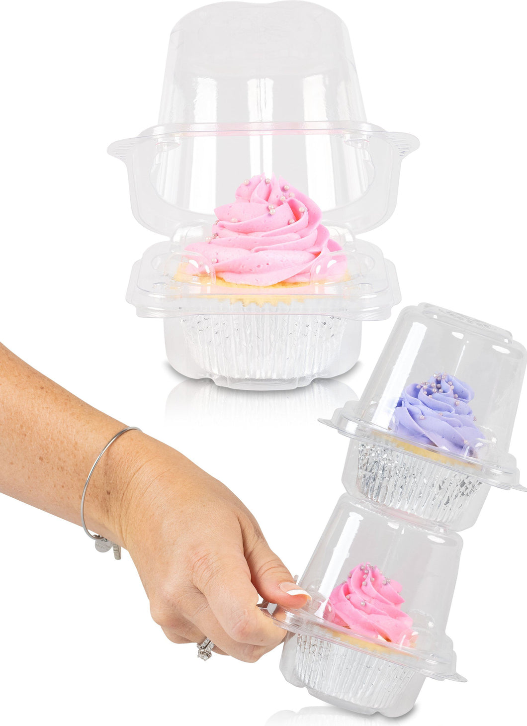 Stack'n Go Cupcake Containers FBA Singles Cupcake Containers (50Pack)