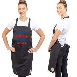 Unique & Funny Baking Aprons (NEW) ShipStation Bake America Sweet Again Black
