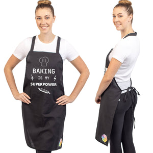 Unique & Funny Baking Aprons (NEW) ShipStation Baking Is My Super Power Black