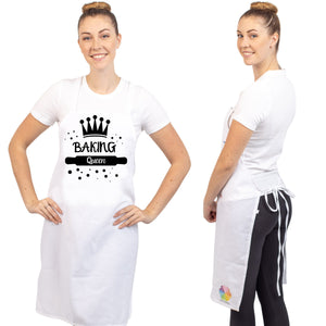 Unique & Funny Baking Aprons (NEW) ShipStation Baking Queen White