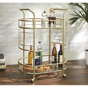 Better Homes & Gardens Fitzgerald 2-Tier Serving Cart, Gold