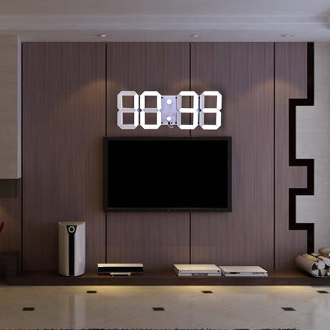 Remote Control LED Digital Wall Clock - EconomicShopping