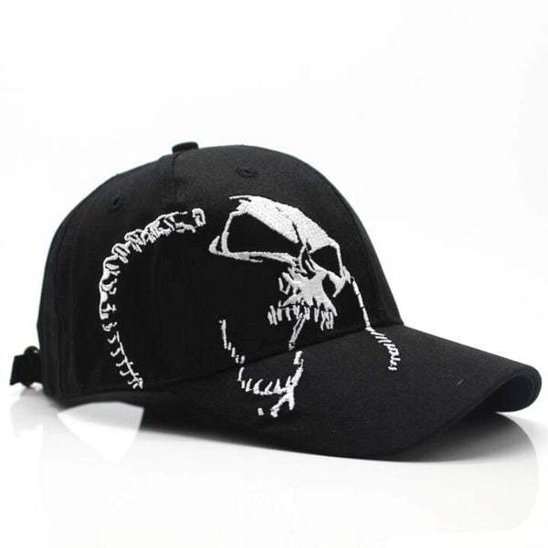 2018 High Quality Unisex 100% Cotton Outdoor Baseball Cap Skull Embroidery - EconomicShopping