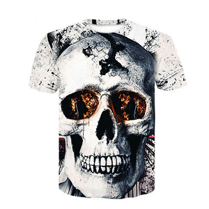 Mens Summer Skull Poker Print Men - EconomicShopping