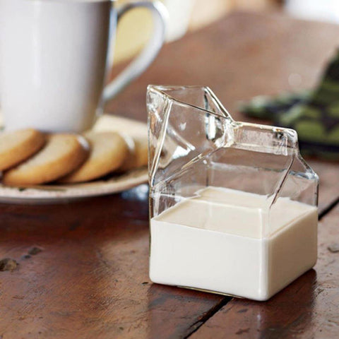 Half Pint Glass Creamer Carton - EconomicShopping