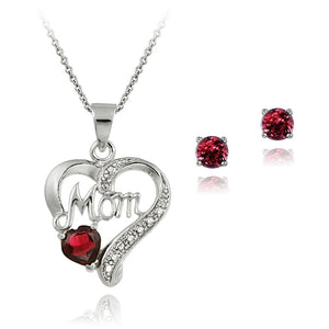 4ad93dd571 1.5 Carat T.G.W. Sterling Silver Created Ruby and Diamond Accent