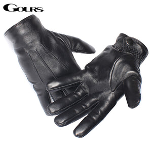 Gours Men's Genuine Leather Gloves - EconomicShopping
