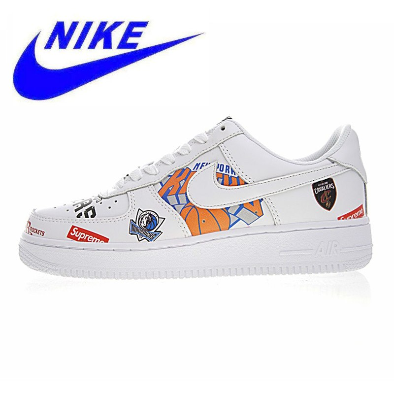 785693cc4e1c42 Official Nike Air Force Supreme NBA AF1 Men Skateboarding Shoes