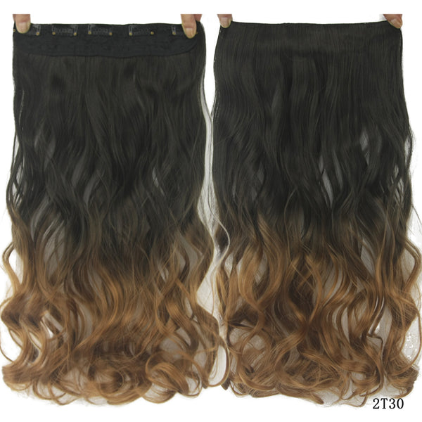 60cm Long Synthetic Hair Clip In Hair Extension