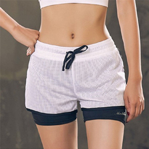 2018 Summer Casual Mesh Yoga Shorts Breathable Ladie Girl Short Pants for Running Athletic Sport Fitness Clothes