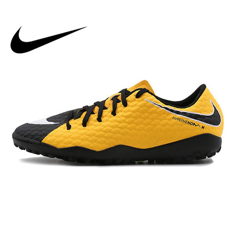 Original Official Nike HYPERVENOMX PHELON III TF Men's Football Soccer Shoes Sports Sneakers Breathable Durable Sneakers 852562
