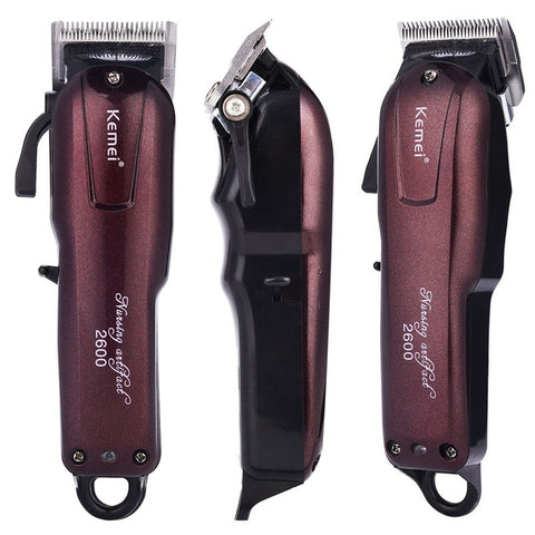 Kemei 100-240V Fast Rechargeable Hair Clipper Electric Hair Trimmer Powerful Hair Shaving Machine Hair Cutting Cord Cordless Use