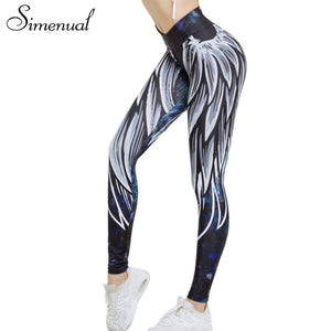 aceb451f5a Simenual Harajuku 3D wing leggings for women 2018 push up sporting fitness  legging athleisure bodybuilding sexy