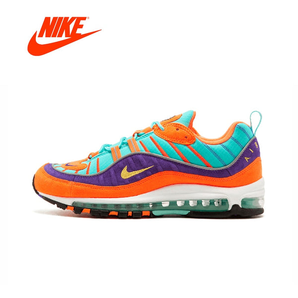 Original New Arrival Authentic Nike Air Max 98 QS CONE Men's Breathable Running Shoes Sport Sneakers Good Quality 924462-800