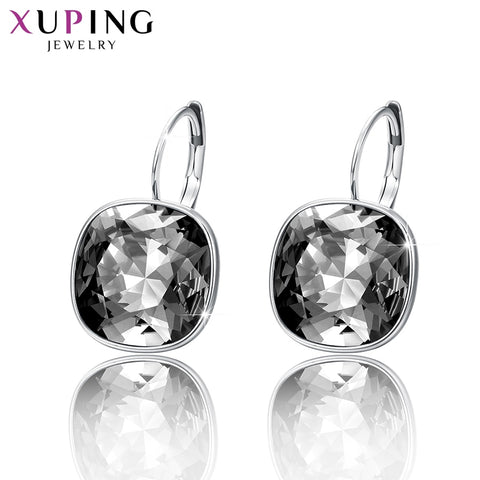 11.11 Deals Xuping Luxury Earrings Christmas Gifts Crystals from Swarovski Colorful Charm for Women Gifts XE2115