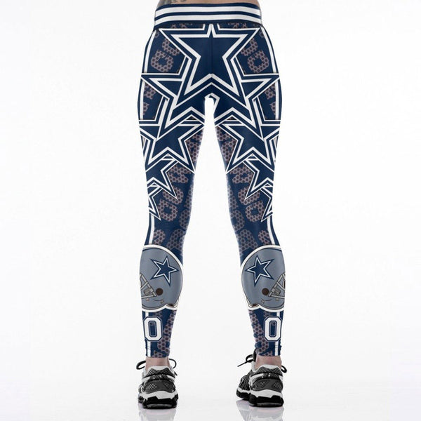 Lei-SAGLY DALLAS 00 3D Print Women Leggings High Waist Legging Steelers Printed Women Pants Slim Fitness Leggings Aslgs0156