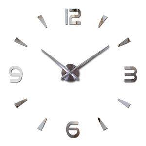 2018 new wall clock quartz watch reloj de pared modern design large decorative clocks Europe acrylic stickers living room klok