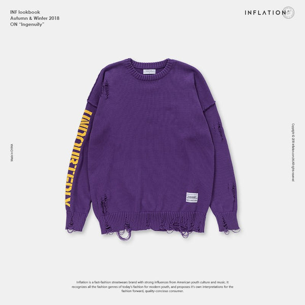 Hip Hop Casual Pullover Sweater - EconomicShopping