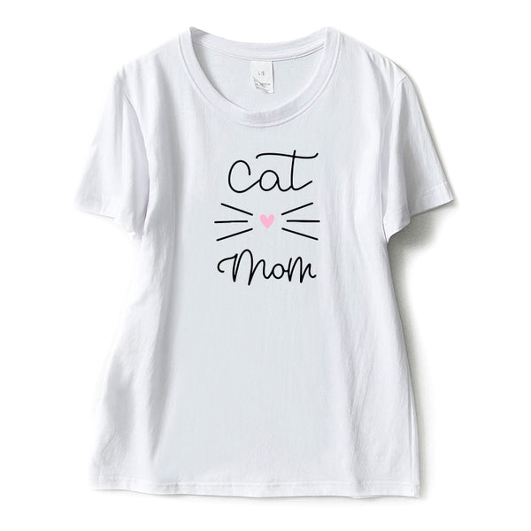 Cat Mom Tshirt for Women - EconomicShopping