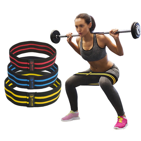 5BILLION Resistance Hip Bands Premium Exercise Bands For Booty Thigh Glutes  Soft Non-slip Design Loop Set