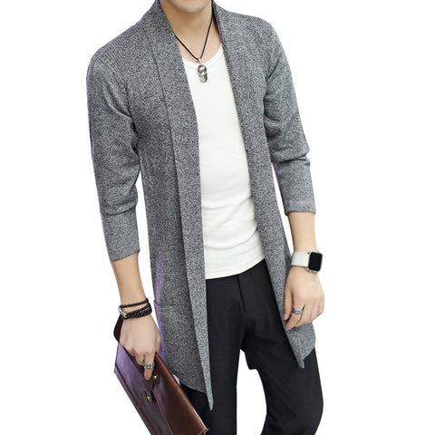 Long Sleeve Knitted Cardigan - EconomicShopping