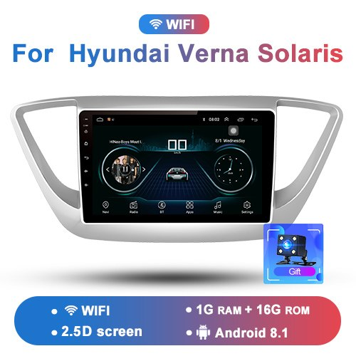 "Junsun 4G LTE Android 8.1 2G+32G Car Radio Multimedia Video Player GPS Navigation 9"" For Hyundai Verna Solaris 2016 2017 no dvd"