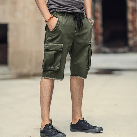 2018 New Casual short Pants Men's Multi-Pocket Tactical cargo shorts military Jeans Short Trousers brand clothing