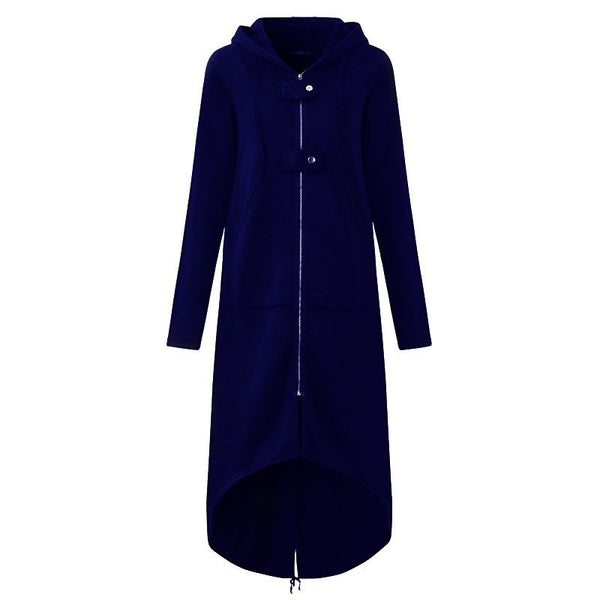 Long Sleeve Hooded Trench Coat