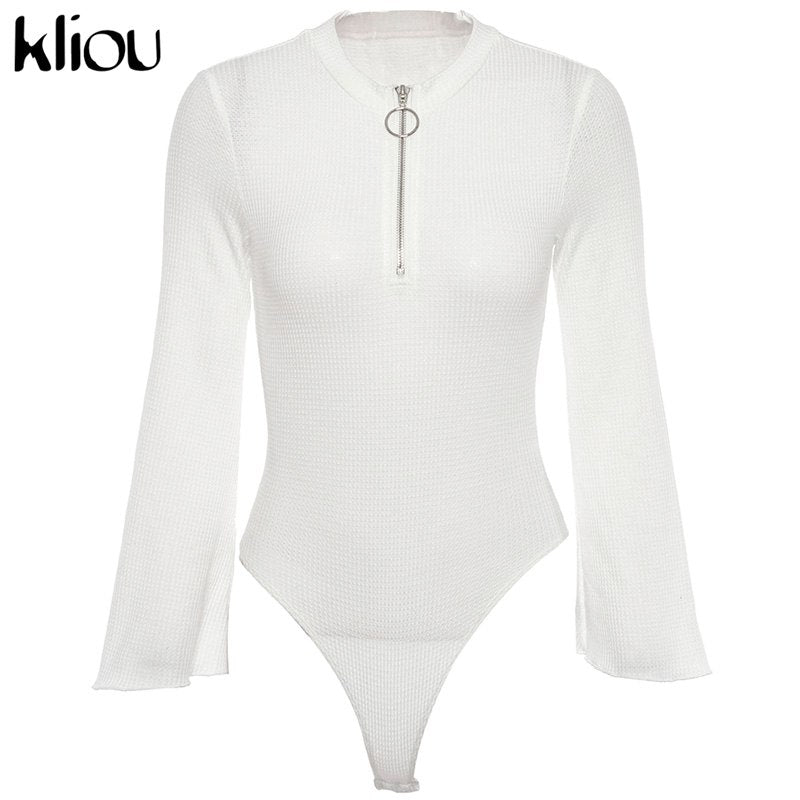 Turtleneck Long Sleeve Sexy Bodysuit