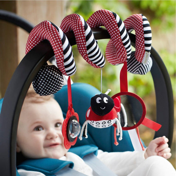 Soft Infant Crib Bed Stroller Toy Spiral Baby Toys For Newborns Car Seat Educational Rattle Baby Towel Education Toys