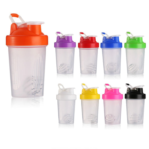 Dropshipping Protein Shaker Bottle 400ml Sports Water Bottle With Leak Proof Lid Plastic Gym Drinkware
