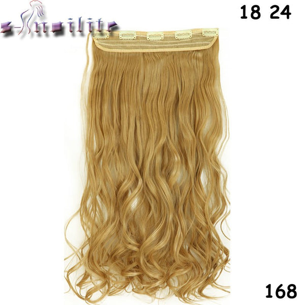 24 inch (61cm) Long Synthetic Hair Clip In Hair Extension