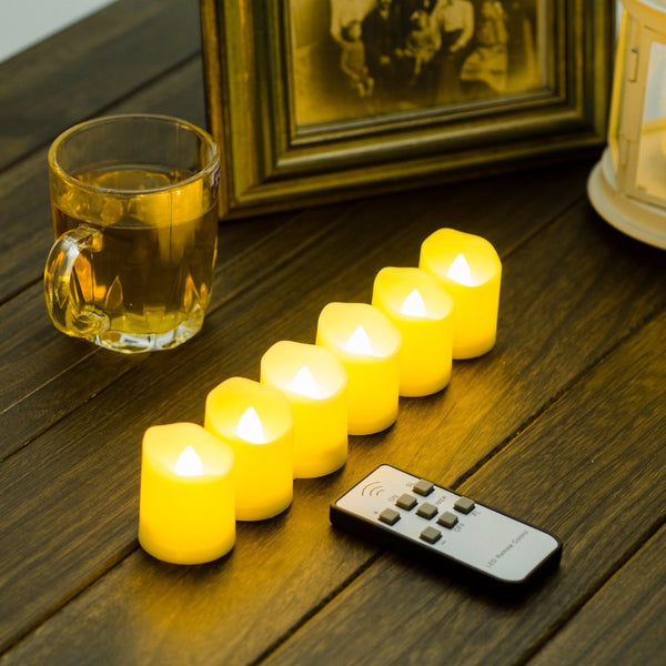 Battery Operated Flickering White Flameless Candles - EconomicShopping