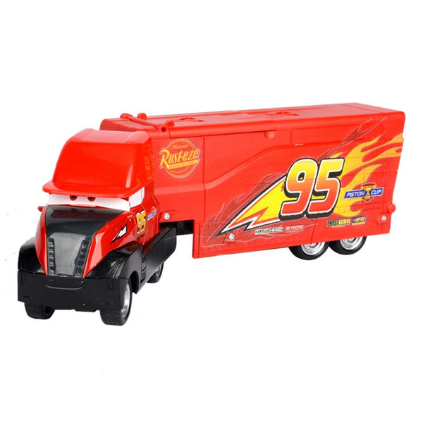 Newest 29cm Disney Pixar Cars 3 Lightning McQueen Mack Truck Uncle Plastic and Metal Model Car Birthday Gift Toy For Kid Boy