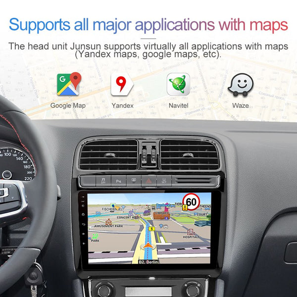 "Junsun 4G LTE 2 Din Android 8.1 2G+32G Car Radio Multimedia Video Player GPS Navigation 9"" For Volkswagen VW POLO sedan no dvd"