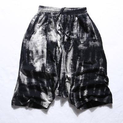 Black Men Knee Length Casual Cotton Shorts - EconomicShopping