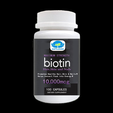 Biotin High Potency 10,000mcg Per Serv. For better absorption,Supports Hair Growth,Glowing Skin and Strong Nails - 100pcs/bottle - EconomicShopping